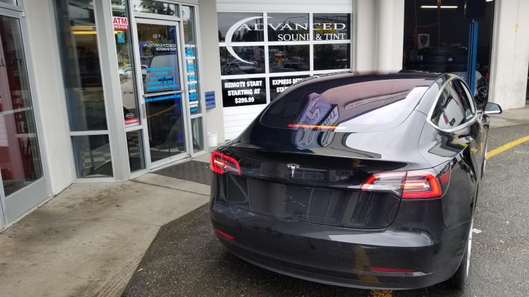 Tesla model 3 Tint up the highest rear defrost line